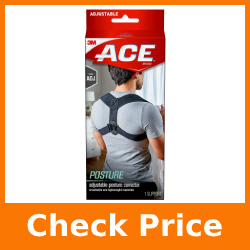 ACE Posture Corrector, Fits Men and Women, Helps Promote Better Posture, Back Support, Adjustable, One Size Fits Most, Great While Working From Home