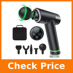 Muscle Massage Gun Deep Tissue - LONOVE Handheld Percussion Muscle Massager for Pain Relief, Therapy Massage Gun for Athletes Quiet Brushless Motor 20 Speed for Gym Home Office Post-Workout Recovery