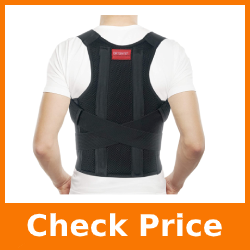 ORTONYX Comfort Posture Corrector Clavicle and Shoulder Support Back Brace, Fully Adjustable for Men and Women/656A-XL