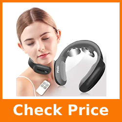 Smart Neck Massager, Pluse Intelligent Portable Neck Massage with Heat Cordless, 3 Modes 15 Levels Smart Deep Tissue Trigger Point Massage Use at Home, Outdoor, Office, Car