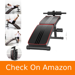 Erwazi Sit-up Bench Decline, Foldable Crunch Board Utility Exercise Bench for Home Sit-ups, Twists, Core Strengthening Exercises