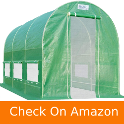 Quictent 2 Mesh Doors 20 Stakes Heavy Duty Portable Greenhouse